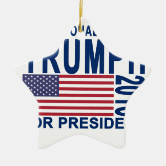 Donald Trump for President T Shirt.png Ceramic Ornament