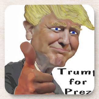 Donald Trump funny humorous product Trump for Prez Beverage Coasters