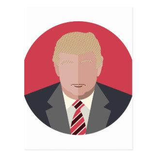 Donald Trump Graphic Representation Postcard