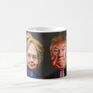 Donald Trump & Hillary Clinton Funny Coffee Cup Basic White Mug