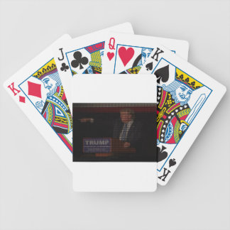 Donald Trump Image Made of Dollar Signs Bicycle Playing Cards