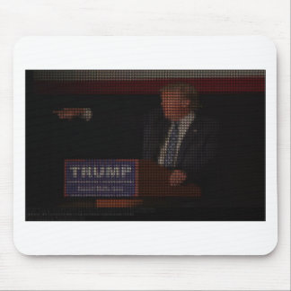 Donald Trump Image Made of Dollar Signs Mouse Pad