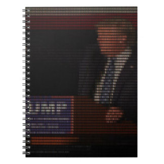 Donald Trump Image Made of Dollar Signs Notebooks