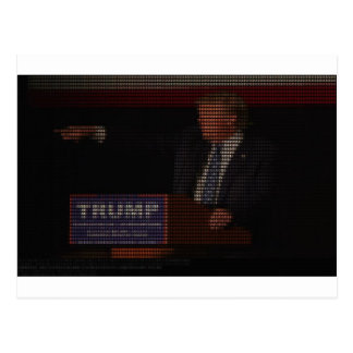 Donald Trump Image Made of Dollar Signs Postcard