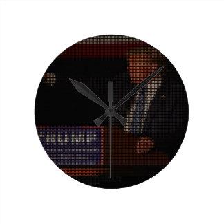 Donald Trump Image Made of Dollar Signs Round Clock