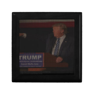 Donald Trump Image Made of Dollar Signs Small Square Gift Box
