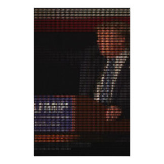 Donald Trump Image Made of Dollar Signs Stationery