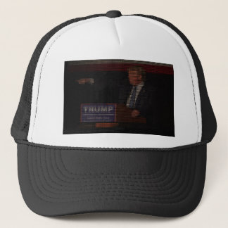 Donald Trump Image Made of Dollar Signs Trucker Hat