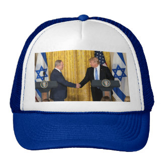 Donald Trump In Israel With Bibi Netanyahu Cap