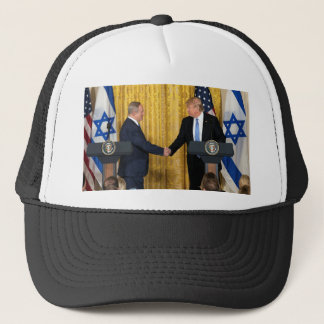 Donald Trump In Israel With Bibi Netanyahu Trucker Hat