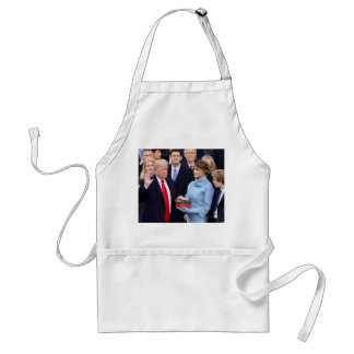 Donald Trump Is Sworn In As President Standard Apron