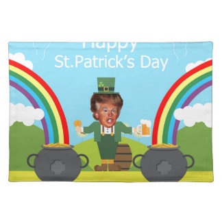 donald trump leprechaun placemat
