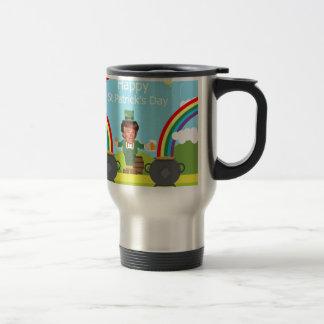 donald trump leprechaun travel mug