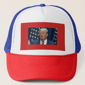 Donald Trump on a Truckers Cap