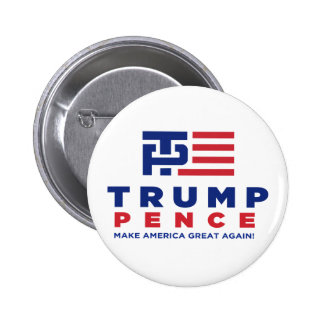 Donald Trump Pence 2016 Election Campaign 6 Cm Round Badge