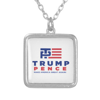 Donald Trump Pence 2016 Election Campaign Silver Plated Necklace