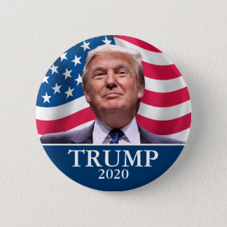 Donald Trump Photo - President 2020 - enough said 6 Cm Round Badge