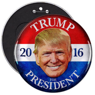 DONALD TRUMP PING PONG BALL 6 CM ROUND BADGE