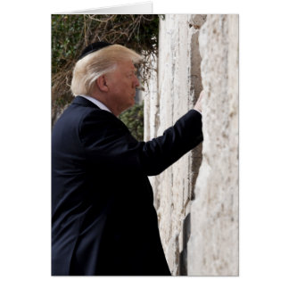 Donald Trump Places Note In Western Wall Card