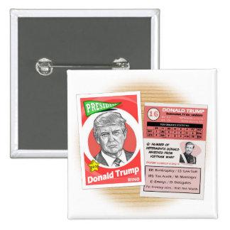 Donald Trump Politics Trading Card 15 Cm Square Badge