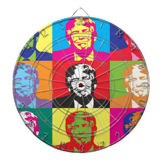 Donald Trump Pop Art Dartboard