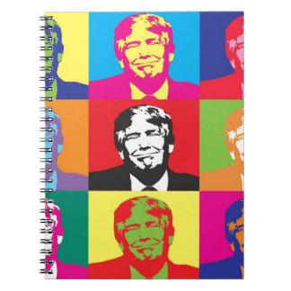 Donald Trump Pop Art Notebooks