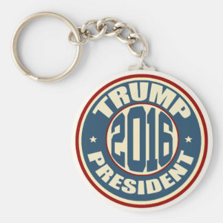 Donald Trump President 2016 Basic Round Button Key Ring