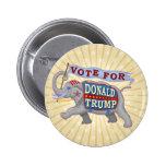 Donald Trump President 2016 Republican Elephant 6 Cm Round Badge