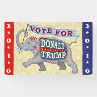 Donald Trump President 2016 Republican Elephant Banner
