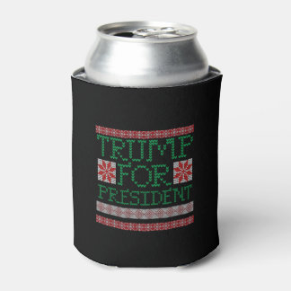 Donald Trump President 2016 Ugly Holiday Sweater Can Cooler