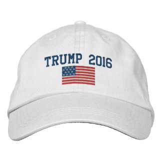 Donald Trump - President 2016 with American Flag Embroidered Hats