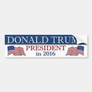 Donald Trump President in 2016 Patriotic Bumper Sticker