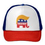 Donald Trump Republican Elephant Hair Logo Cap