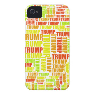 Donald Trump Silhouette Name iPhone 4 Cover