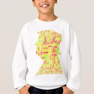 Donald Trump Silhouette Name Sweatshirt