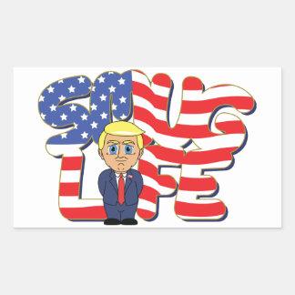 Donald Trump Smug Life Rectangular Sticker