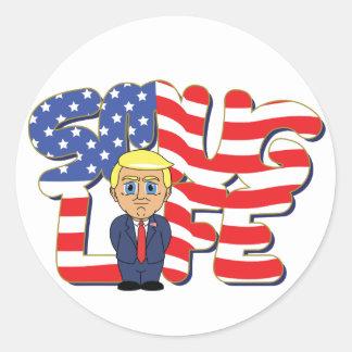 Donald Trump Smug Life Round Sticker