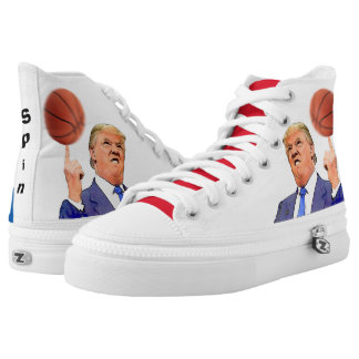 Donald Trump Spinning a Basketball | shoes Printed Shoes