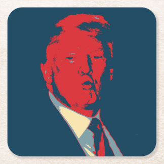 Donald Trump Square Paper Coaster