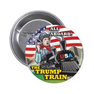 Donald TRUMP TRAIN Political American Movement USA 6 Cm Round Badge