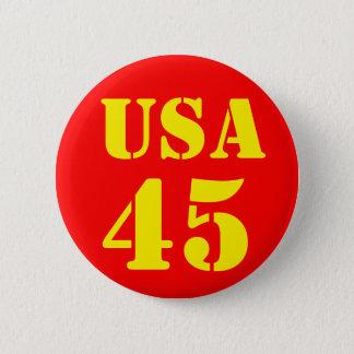 Donald Trump USA 45 6 Cm Round Badge