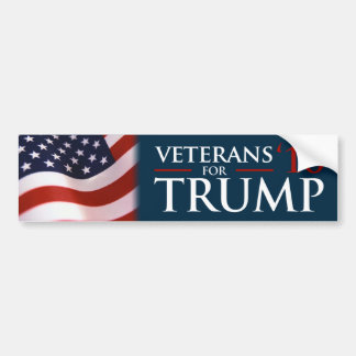 Donald Trump Veterans For Trump 2016 Bumper Bumper Sticker
