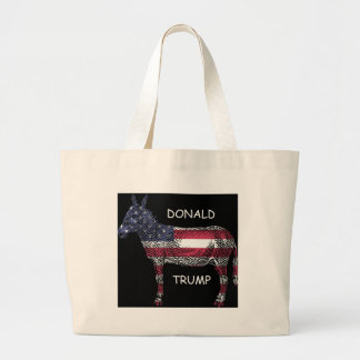 Donald Trump - What a Donkey Large Tote Bag