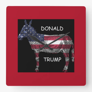 Donald Trump - What a Donkey Square Wall Clock