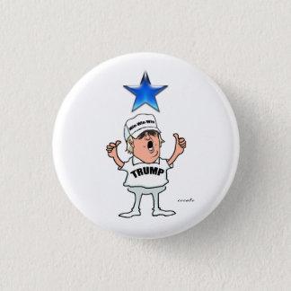 Donald Trump. Win-Win-Win. 3 Cm Round Badge