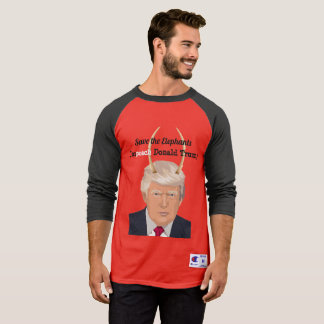 Donald Trump with Elephant Trump Devil Horns T-Shirt