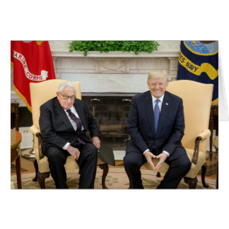 Donald Trump With Henry Kissinger Card