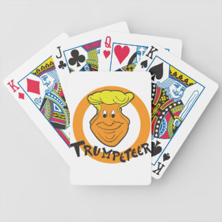 Donald Trumpeteer Caricature Bicycle Playing Cards