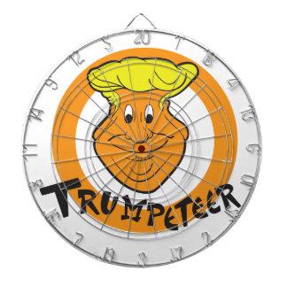 Donald Trumpeteer Caricature Dartboard