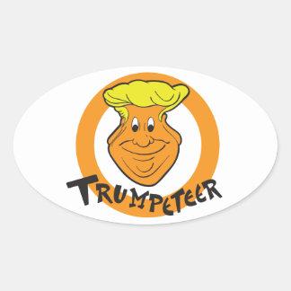 Donald Trumpeteer Caricature Oval Sticker